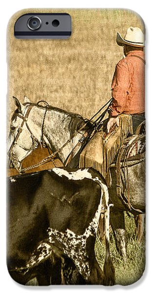 Longhorn Round Up iPhone Case by Steven Bateson