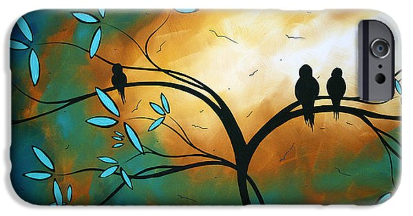 Sun Paintings iPhone Cases - Longing by MADART iPhone Case by Megan Duncanson