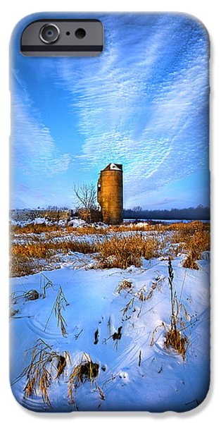 Silos iPhone Cases - Longing For Some Solitary Company iPhone Case by Phil Koch