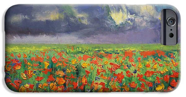 Storms Paintings iPhone Cases - Longing iPhone Case by Michael Creese