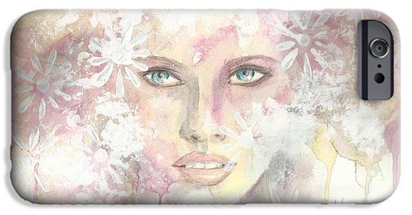 Beautiful Faces iPhone Cases - Longings iPhone Case by P J Lewis