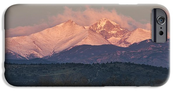 Nederland iPhone Cases - Longs Peak 1 iPhone Case by Aaron Spong