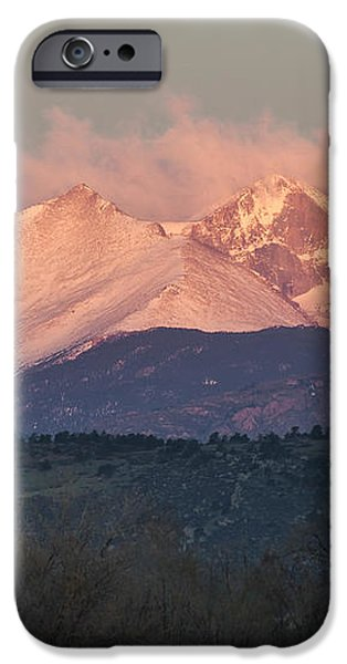 Longs Peak 1 iPhone Case by Aaron Spong