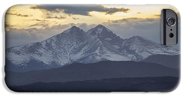 Lady Washington iPhone Cases - Longs Peak 3 iPhone Case by Aaron Spong