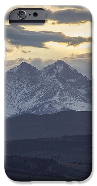 Longs Peak 3 iPhone Case by Aaron Spong