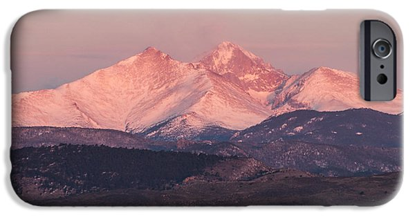 Lady Washington iPhone Cases - Longs Peak 4 iPhone Case by Aaron Spong