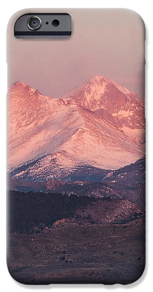 Longs Peak 4 iPhone Case by Aaron Spong