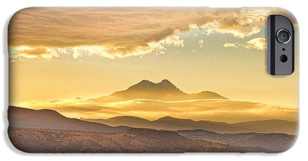 James Bo Insogna iPhone Cases - Longs Peak Autumn Sunset iPhone Case by James BO  Insogna