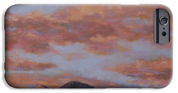 Clouds Pastels iPhone Cases - Longs Peak Sunrise iPhone Case by Billie Colson