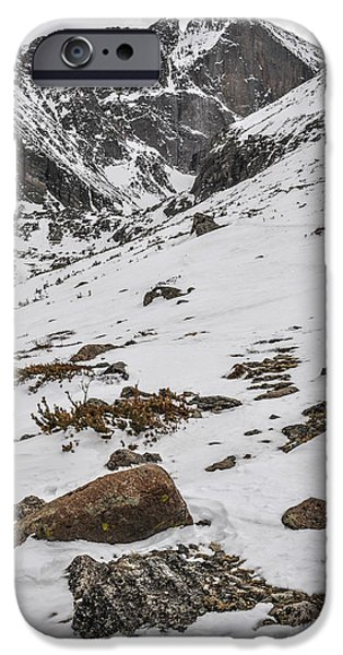 Longs Peak -  Vertical iPhone Case by Aaron Spong