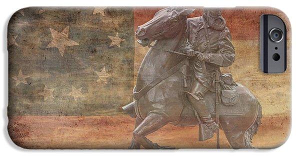 Battle Of Gettysburg Digital iPhone Cases - Longstreet  iPhone Case by Randy Steele