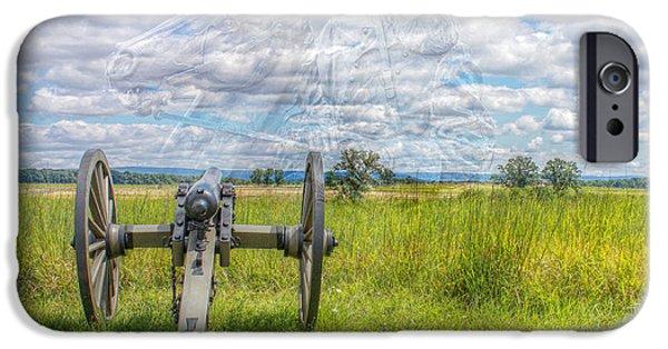 Battle Of Gettysburg Digital iPhone Cases - Longstreet Returns to Gettysburg iPhone Case by Randy Steele