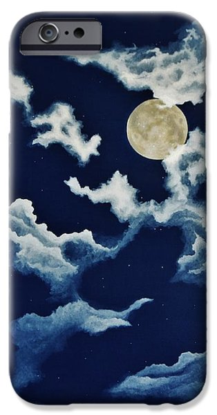 Man In The Moon iPhone Cases - Look at the Moon iPhone Case by Katherine Young-Beck