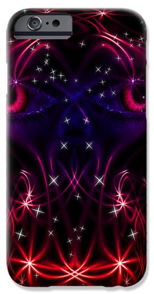 Look into my eyes iPhone Case by Nathan Wright