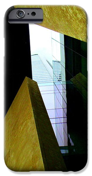 Uptown Charlotte iPhone Cases - Look Up Mint Uptown iPhone Case by Randall Weidner