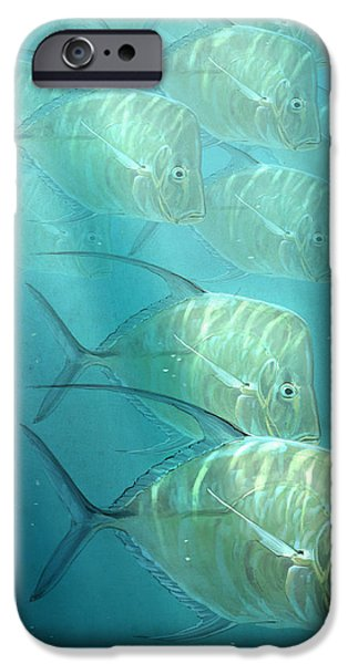 Sea Life iPhone Cases - Lookdowns iPhone Case by Aaron Blaise