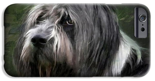 Dog Head iPhone Cases - Looking a little sad iPhone Case by Gun Legler