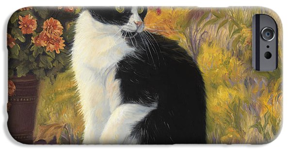 Feline iPhone Cases - Looking Afar iPhone Case by Lucie Bilodeau
