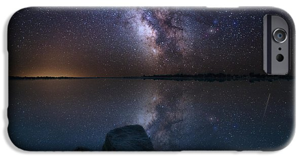 Rift iPhone Cases - Looking at the Stars iPhone Case by Aaron J Groen