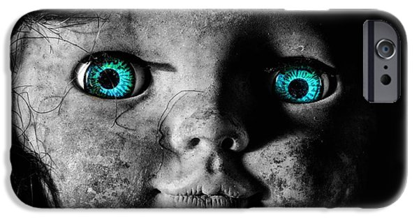 Provocative Photographs iPhone Cases - Looking at You Kid iPhone Case by JC Findley