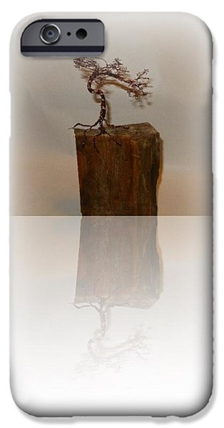 Office Sculptures iPhone Cases - Looking back   iPhone Case by Joyce  McCormick-Mabry