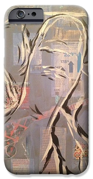 Multimedia Mixed Media iPhone Cases - Looking Back Through The Eye Of The Needle iPhone Case by Edward Paul