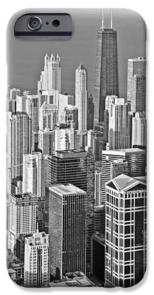 Interior Scene iPhone Cases - Looking down at beautiful Chicago iPhone Case by Christine Till