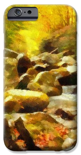 Looking Down Little River In Autumn iPhone Case by Dan Sproul