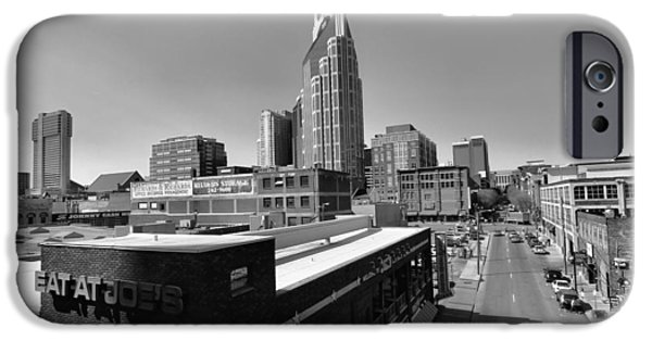 Buildings In Nashville iPhone Cases - Looking Down On Nashville iPhone Case by Dan Sproul