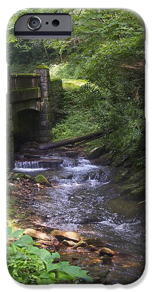 Looking Digital Art iPhone Cases - Looking Glass Creek - North Carolina iPhone Case by Mike McGlothlen