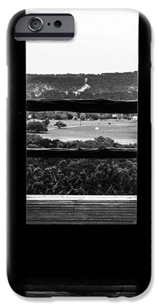 Rocking Chairs Photographs iPhone Cases - Looking out a country door. iPhone Case by Darryl Dalton