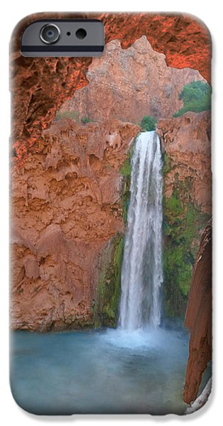 Grand Canyon iPhone Cases - Looking Out From the Cave iPhone Case by Alan Socolik