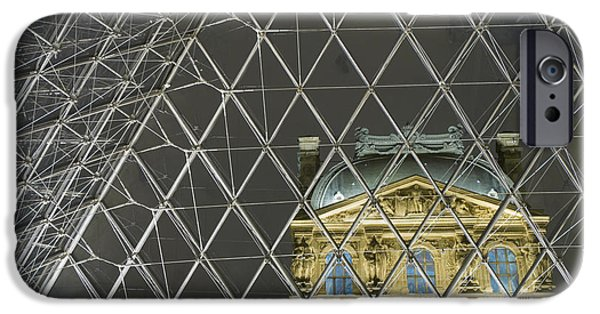 National Gallery Art iPhone Cases - Looking Out Of The Pyramid To The iPhone Case by Ian Cumming