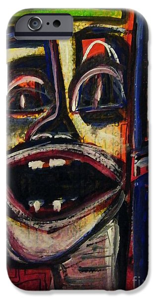 Observer iPhone Cases - Looking Out The Window And Having A Laugh iPhone Case by Mimulux patricia no
