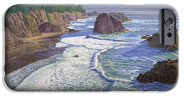 Oregon Coast iPhone Cases - Looking South- Oregon Coast iPhone Case by Paul Krapf