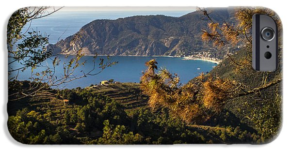 Vineyard Prints iPhone Cases - Looking to Monterosso al Mare iPhone Case by Prints of Italy