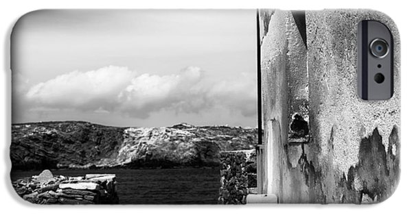 Delos iPhone Cases - Looking to the Aegean Sea iPhone Case by John Rizzuto