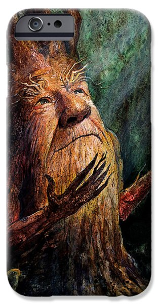 Whimsical. Paintings iPhone Cases - Looking To the Light iPhone Case by Frank Robert Dixon