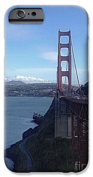 Sausalito Ca iPhone Cases - Looking Toward San Francisco iPhone Case by Christy Gendalia