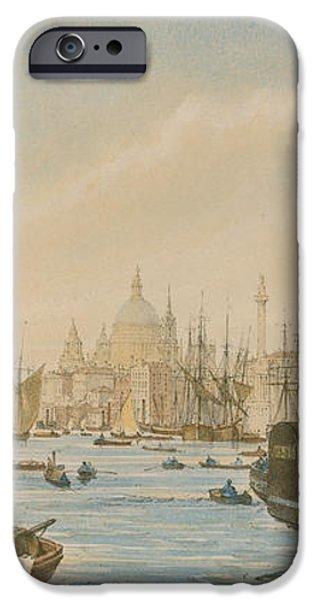 Looking towards London Bridge iPhone Case by William Parrot
