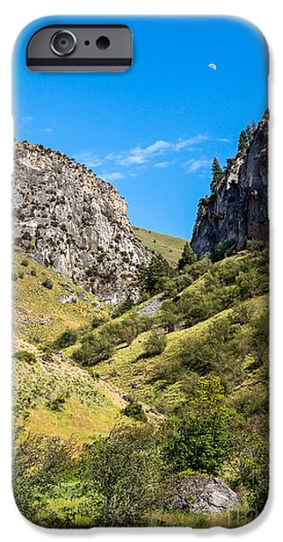 Deep River iPhone Cases - Looking Up Dry Gulch iPhone Case by Robert Bales
