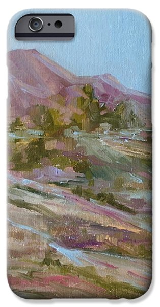 Looking Up the Hill iPhone Case by Jo Anne Neely Gomez