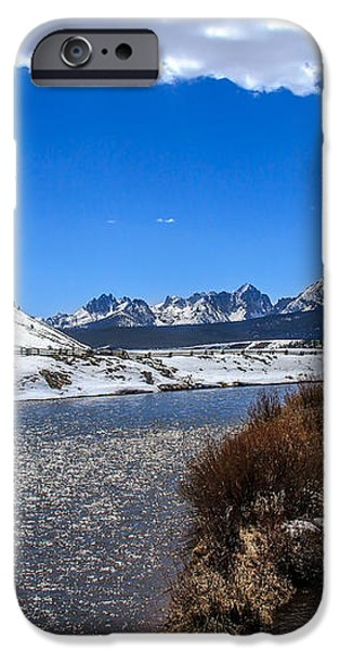 Looking Up The Salmon River iPhone Case by Robert Bales
