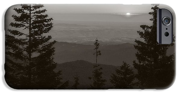Dirty iPhone Cases - Lookout Butte Sunset iPhone Case by Niels Nielsen