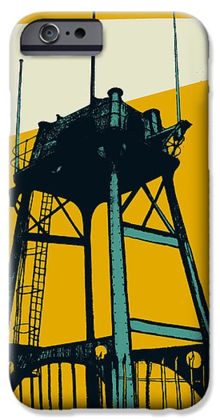 Contemporary Art Drawings iPhone Cases - Lookout iPhone Case by Eliza Southwood