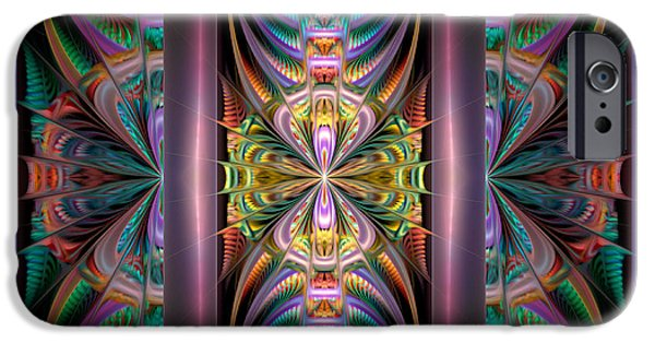 Abstract Digital Digital Art iPhone Cases - Loonie Behind Bars iPhone Case by Peggi Wolfe
