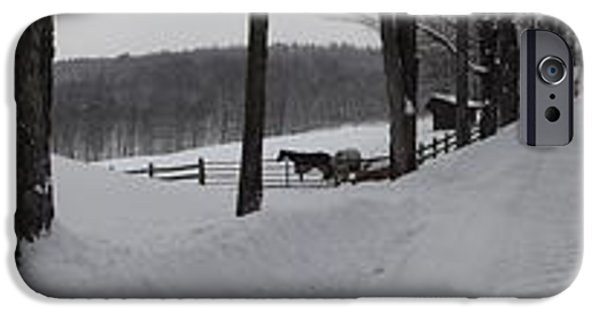 Snow iPhone Cases - Loop Road Vista iPhone Case by Mark J Curran