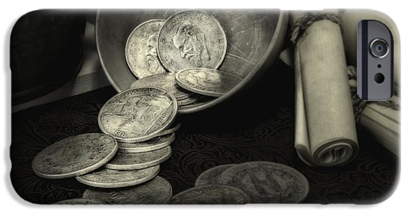 Coin iPhone Cases - Loose Change Still Life iPhone Case by Tom Mc Nemar