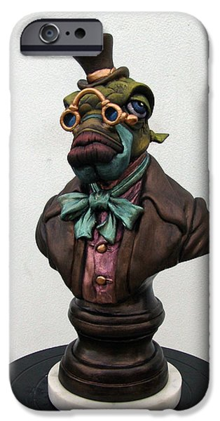 Sculptures iPhone Cases - Lord Finn Ribblescale iPhone Case by Patrick Anthony Pierson