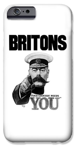 Wwi iPhone Cases - Lord Kitchener iPhone Case by War Is Hell Store